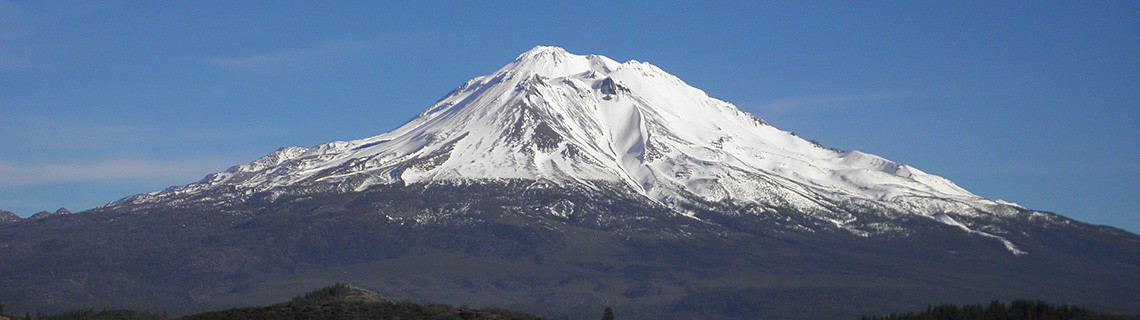 Mount Shasta as seen from Shasta Valley, California