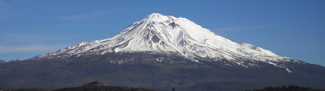 Mount Shasta as seen from Shasta Valley, California